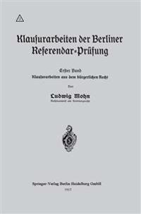 Klausurarbeiten Der Berliner Referendar-Prufung
