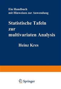 Statistische Tafeln Zur Multivariaten Analysis