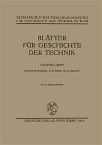 Blätter Für Geschichte Der Technik