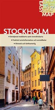 Stockholm EasyMap stadskarta : 1:17500