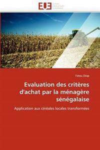 Evaluation Des Crit�res d''achat Par La M�nag�re S�n�galaise