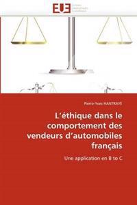 L''�thique Dans Le Comportement Des Vendeurs d''automobiles Fran�ais