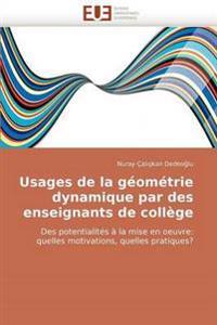 Usages de La Geometrie Dynamique Par Des Enseignants de College