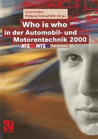 Who Is Who in Der Automobil- Und Motorentechnik 2000