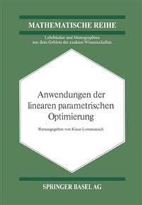 Anwendungen Der Linearen Parametrischen Optimierung