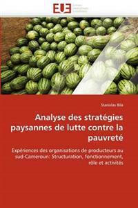 Analyse Des Strategies Paysannes de Lutte Contre La Pauvrete