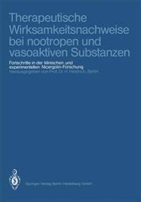 Therapeutische Wirksamkeitsnachweise Bei Nootropen Und Vasoaktiven Substanzen