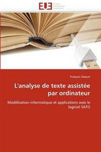 L''analyse de Texte Assist�e Par Ordinateur
