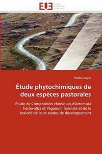 Etude Phytochimiques de Deux Especes Pastorales
