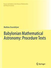 Babylonian Mathematical Astronomy