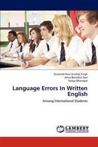 Language Errors in Written English