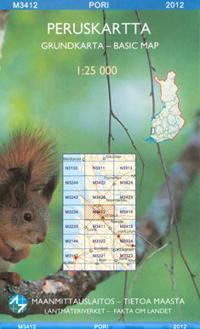 Peruskartta M3412 Pori 1:25 000