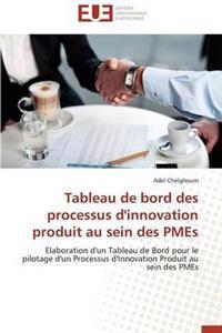 Tableau de Bord Des Processus d'Innovation Produit Au Sein Des Pmes