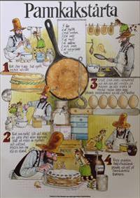 Pannkakstårtan recept Affisch 34 x 48 cm