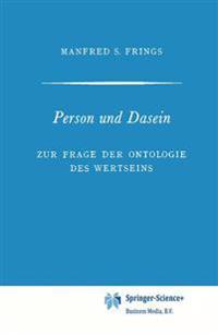 Person Und Dasein