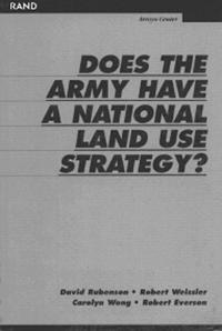 Does the Army Have a National Land Strategy