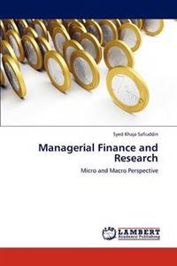 Managerial Finance and Research