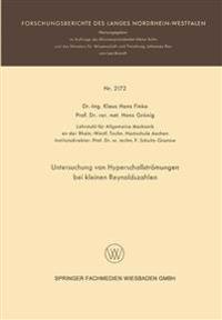 Untersuchung Von Hyperschallströmungen Bei Kleinen Reynoldszahlen