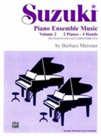Suzuki Piano Ensemble Music for Piano Duo, Vol 2: Second Piano Accompaniments