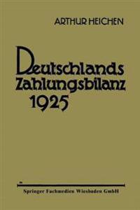 Deutschlands Zahlungsbilanz 1925