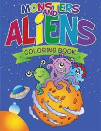 Monsters and Aliens Coloring Book