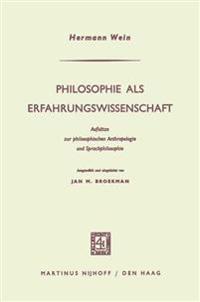 Philosophie Als Erfahrungswissenschaft