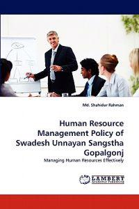 Human Resource Management Policy of Swadesh Unnayan Sangstha Gopalgonj