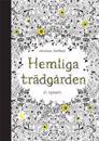 Hemliga Trädgården - 20 vykort att färglägga