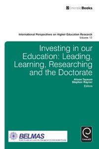Investing in our education - leading, learning, researching and the doctora