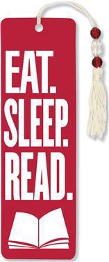 Eat. Sleep. Read. Beaded Bookmark