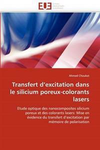 Transfert D Excitation Dans Le Silicium Poreux-Colorants Lasers