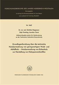 Grundlagenforschung Über Die Technische Nutzbarmachung Von Geringwertigem Wald- Und Abfallholz