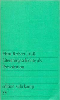 Literaturgeschichte als Provokation