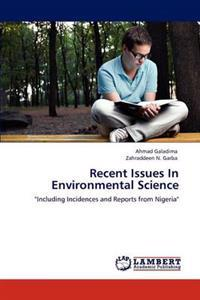 Recent Issues in Environmental Science