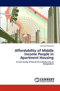 Affordability of Middle Income People in Apartment Housing