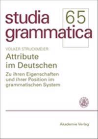 Attribute Im Deutschen