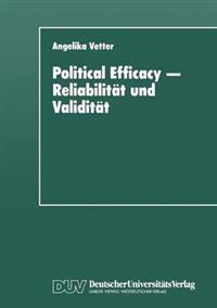 Political Efficacy -- Reliabilit t Und Validit t