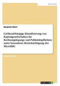 Groenabhangige Klassifizierung Von Kapitalgesellschaften Fur Rechnungslegungs- Und Publizitatspflichten Unter Besonderer Berucksichtigung Des Microbilg