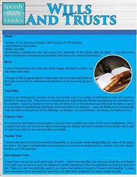 Wills and Trusts (Speedy Study Guides