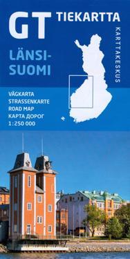 GT tiekartta Länsi-Suomi, 1:250 000