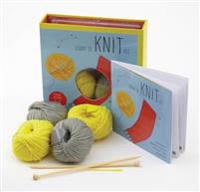 Learn to Knit Kit: Includes Needles and Yarn for Practice and for Making Your First Scarf-Featuring a 32-Page Book with Instructions and  [With Needle
