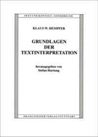 Grundlagen Der Textinterpretation