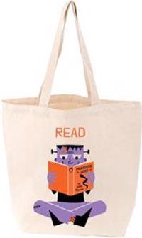 Read Frankenstein Tote Bag