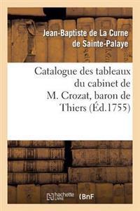 Catalogue Des Tableaux Du Cabinet de M. Crozat, Baron de Thiers