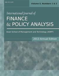 International Journal of Finance and Policy Analysis 2013