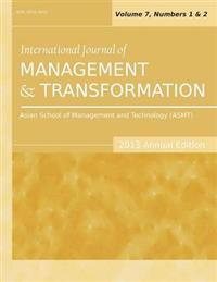 International Journal of Management and Transformation 2013