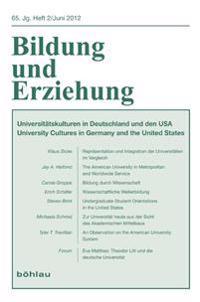 Bildung und Erziehung 65,2. Universitätskulturen in Deutschland und den USA