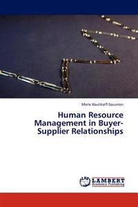 Human Resource Management in Buyer-Supplier Relationships