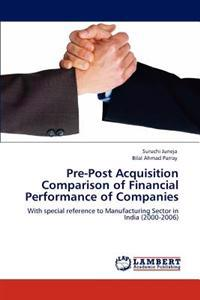 Pre-Post Acquisition Comparison of Financial Performance of Companies