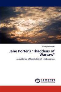 Jane Porter's Thaddeus of Warsaw